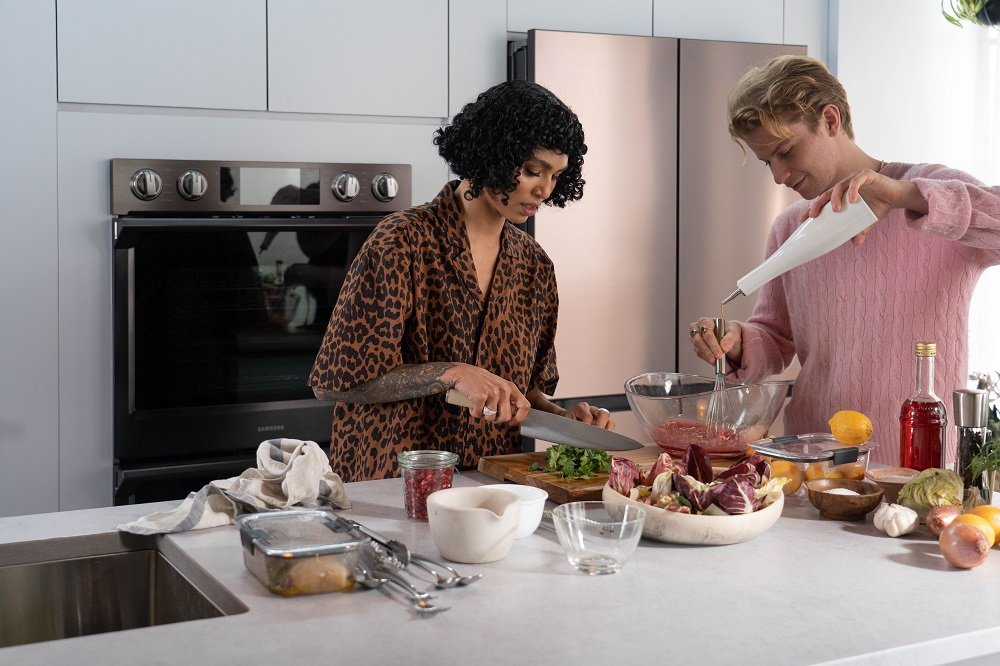 Sophia Roe (left) and Flynn McGarry cooking for a Bespoke-inspired dinner party (2)